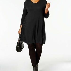 Style & CO Womens 2X J4-07 Deep Black  Scoop neck